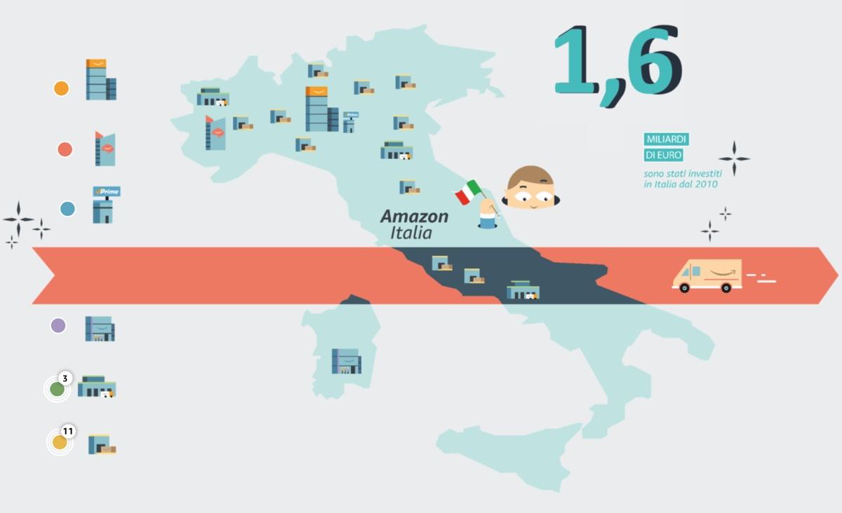 Amazon crea 1.700 posti di lavoro in Italia entro fine anno