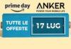 Le nuove offerte Prime Day del 17 Luglio: tutti gli sconti su Anker  Dash cam, speaker bluetooth, cuffie Bluetooh cavi MFI certificati. adattatori USB-C, aliimentatori, caricatori… gran parte della produzione Anker è in sconto nelle ultime 24 ore del Prime Day.  Il marchio Anker non ha bisogno di presentazioni soprattutto per chi frequenta Amazon e conosce l'ottimo livello di qualità della produzione e la cura nel confezionamento. Prime Day è l'occasione giusta per confrontarsi con l'enorme catalogo dell'azienza e scoprire interessantissime offerte.   Ecco la lista di quelle valide dalla mezzanotte del 17 Luglio alle 23.55 dello stesso giorno.