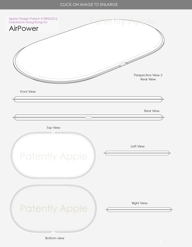 Apple AirPower foto schema brevetto del design