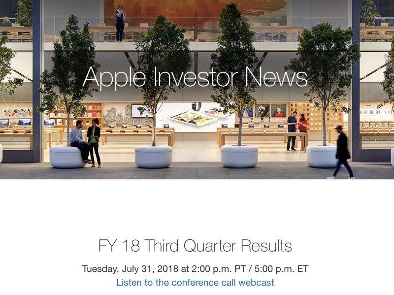 Terzo trimestre Apple