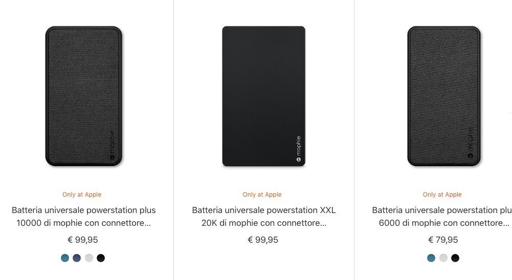 Disponibili le nuove batterie Mophie con cavo Lightning incorporato, ecco i prezzi