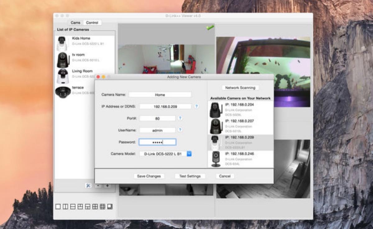 D-Link++ Viewer per Mac, l'app per controllare le telecamere