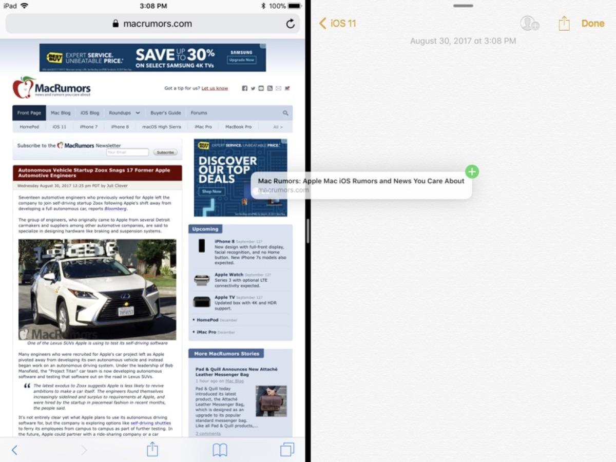 Come usare il Drag and Drop su iPhone e iPad con iOS 11