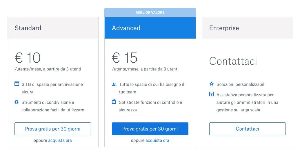 Dropbox incrementa gratis lo spazio agli utenti, adesso fino a 3 TB