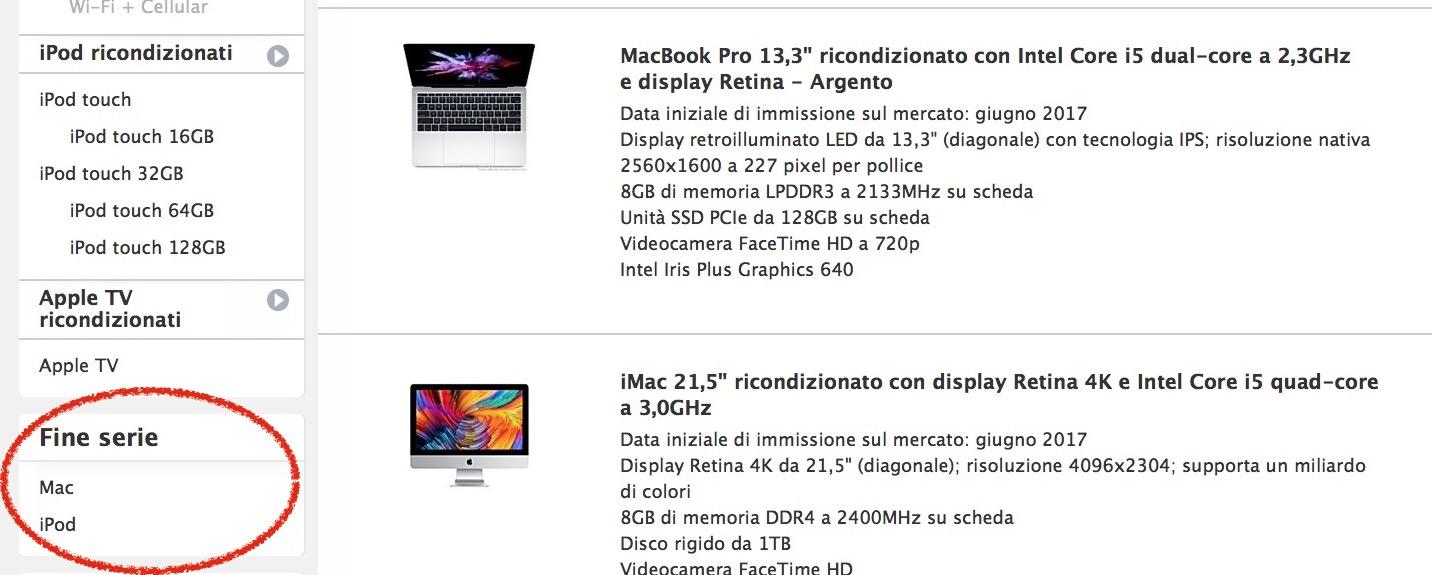 Apple ha eliminato dai listini il MacBook Pro 2015