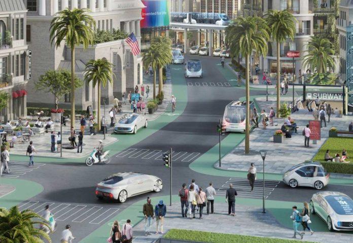 Guida autonoma in California