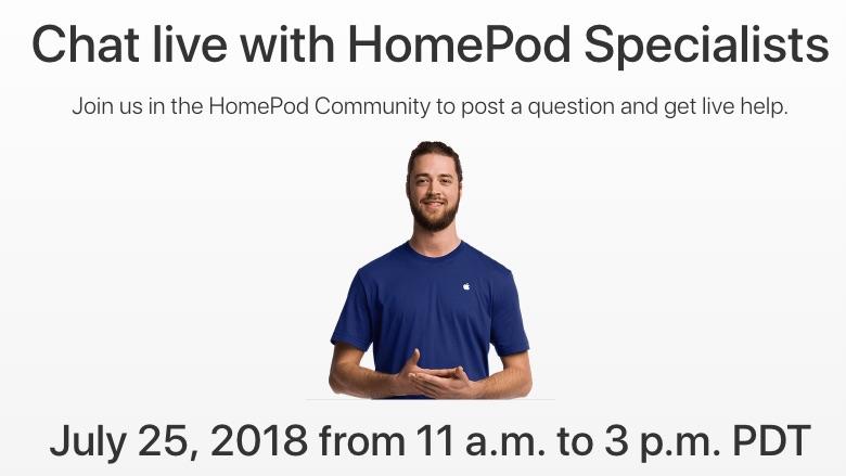 Domande su HomePod? Apple risponderà in diretta