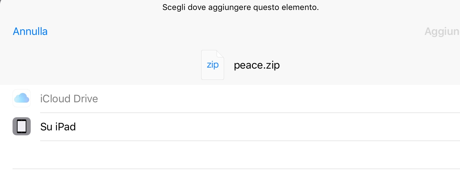 Come aprire file zip su iPhone e iPad tramite File