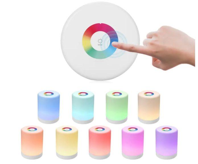 Lampada LED luminosa multicolore portatile a solo 7 euro