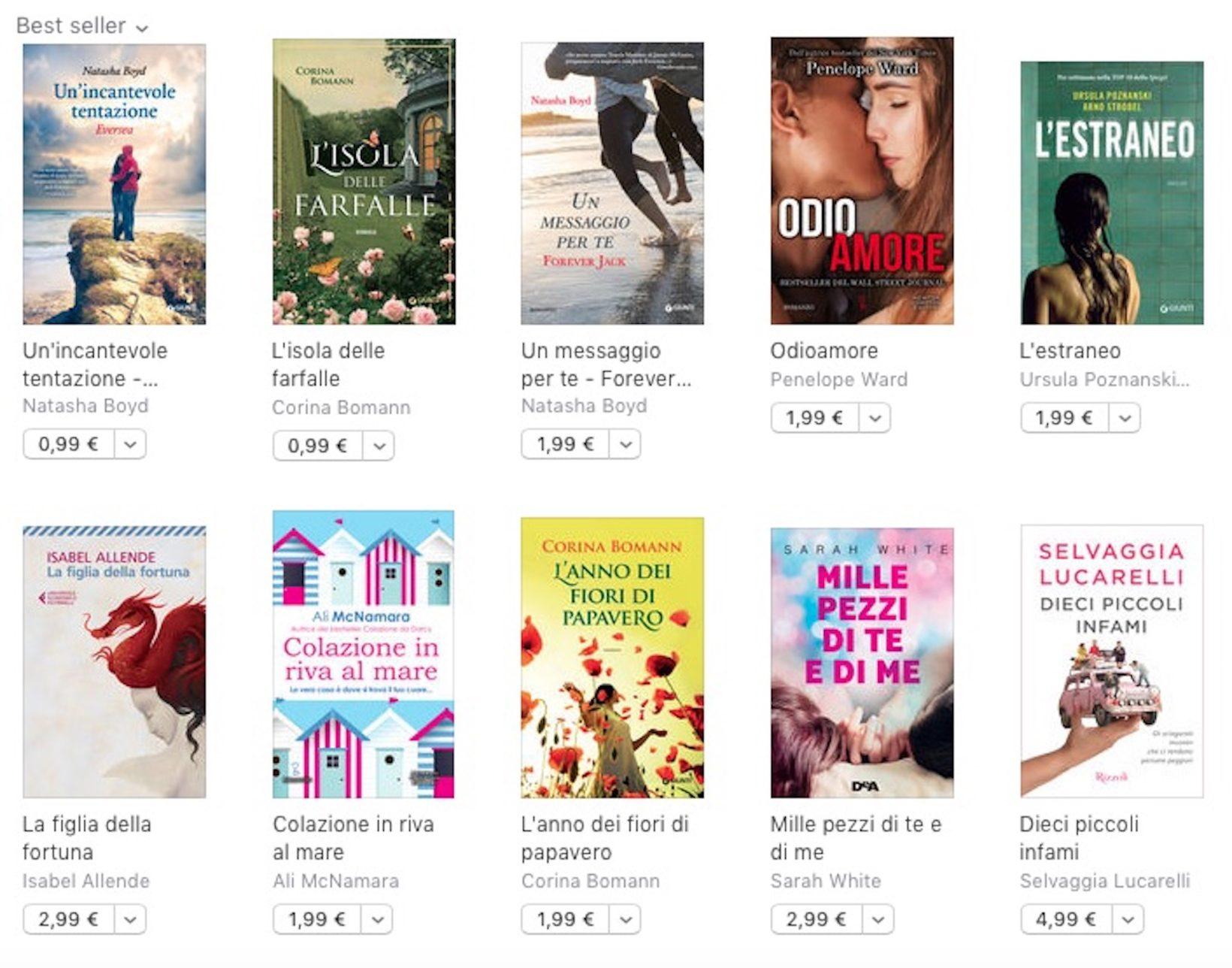 Tante letture estive a 4,99 euro o meno su iBookStore