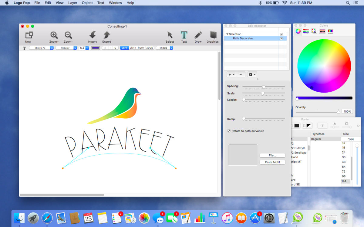 Disegnare un logo con LogoPop