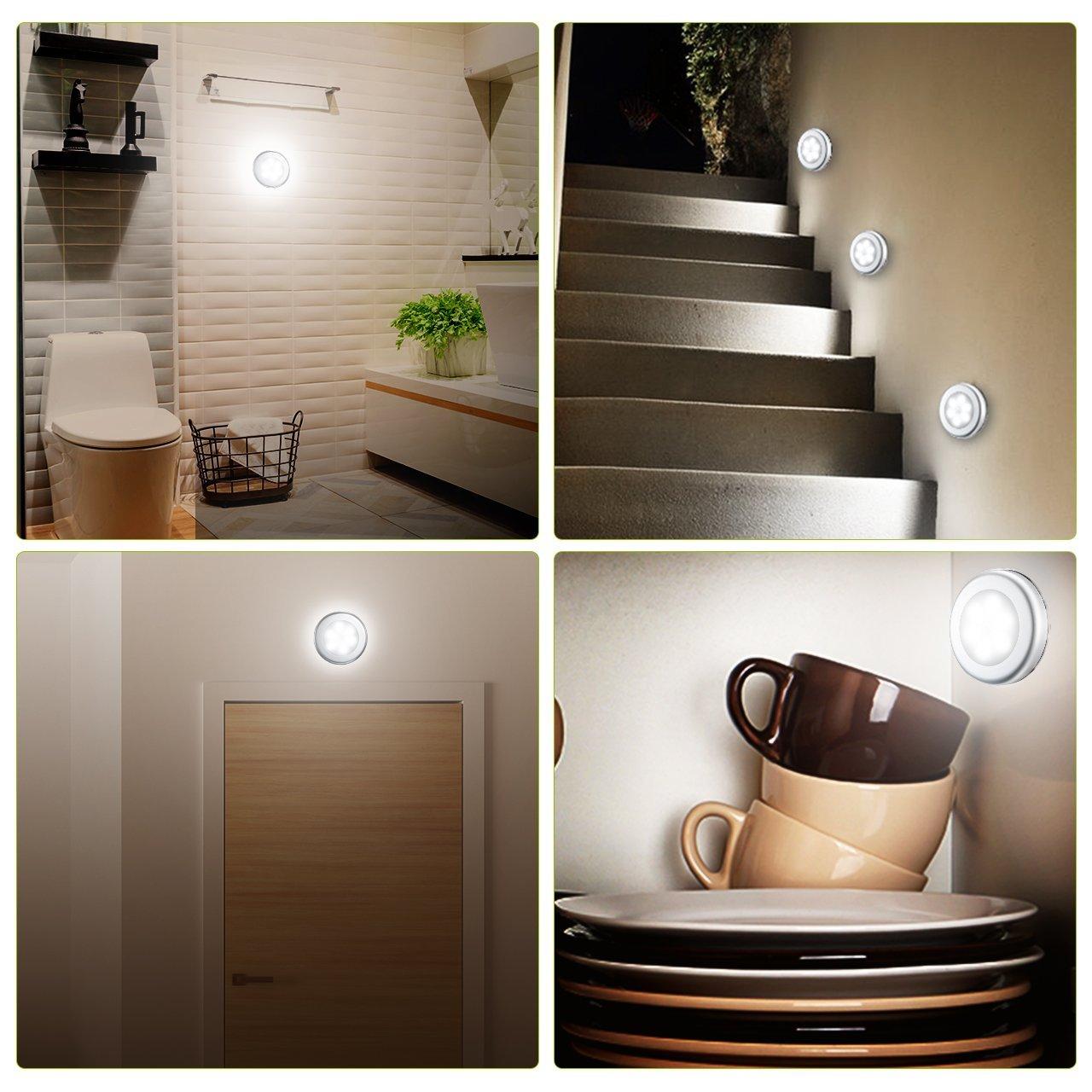 3 lampade LED con sensore di movimento per interni: 13,59 euro