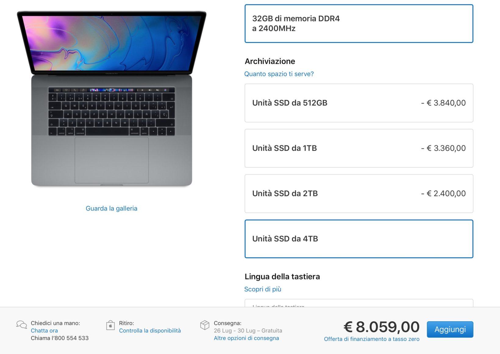 Nuovi MacBook Pro 2018, prezzi e caratteristiche dei modelli 2018