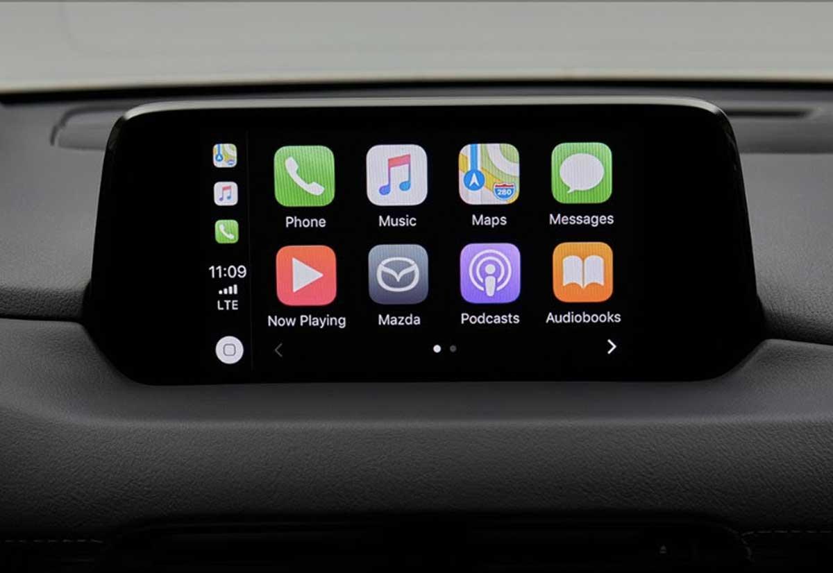 mazda aggiunge apple carplay e android auto al sistema