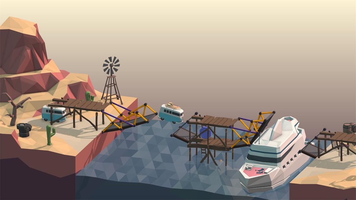 In Poly Bridge libera la creatività costruendo ponti che sfidano la fisica su Mac