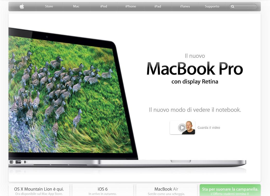 MacBooK Pro Retina foto Primo MacBook Pro Retina
