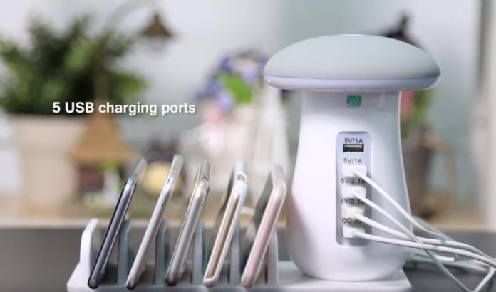 Stazione di ricarica USB fungo luminoso: caricate fino a 5 dispositivi per 20 euro