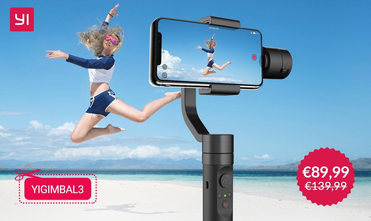 Yi Gimbal: il nuovo stabilizzatore smartphone per riprese professionali solo per oggi a 89 euro
