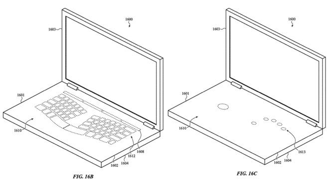 macbook touch - foto schema Brevetto Apple