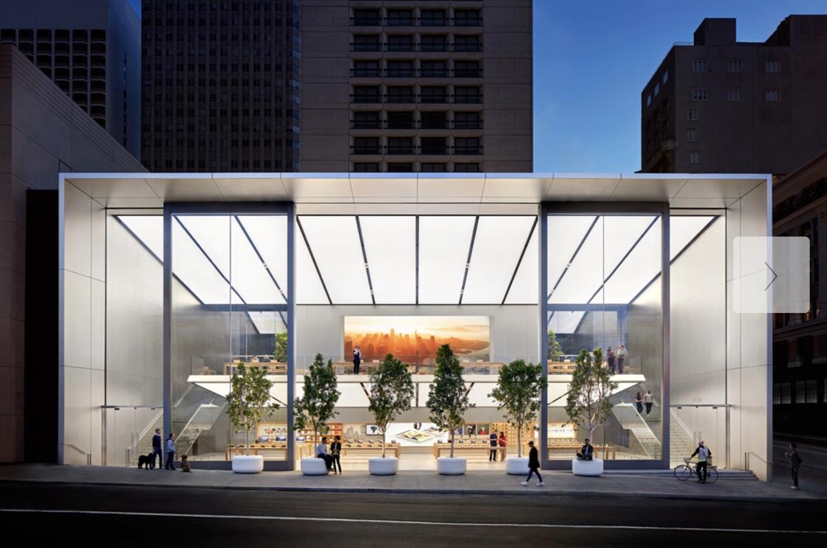 Le vetrate di Apple Park alte tre piani si aprono, la GIF animata pubblicata da Tim Cook
