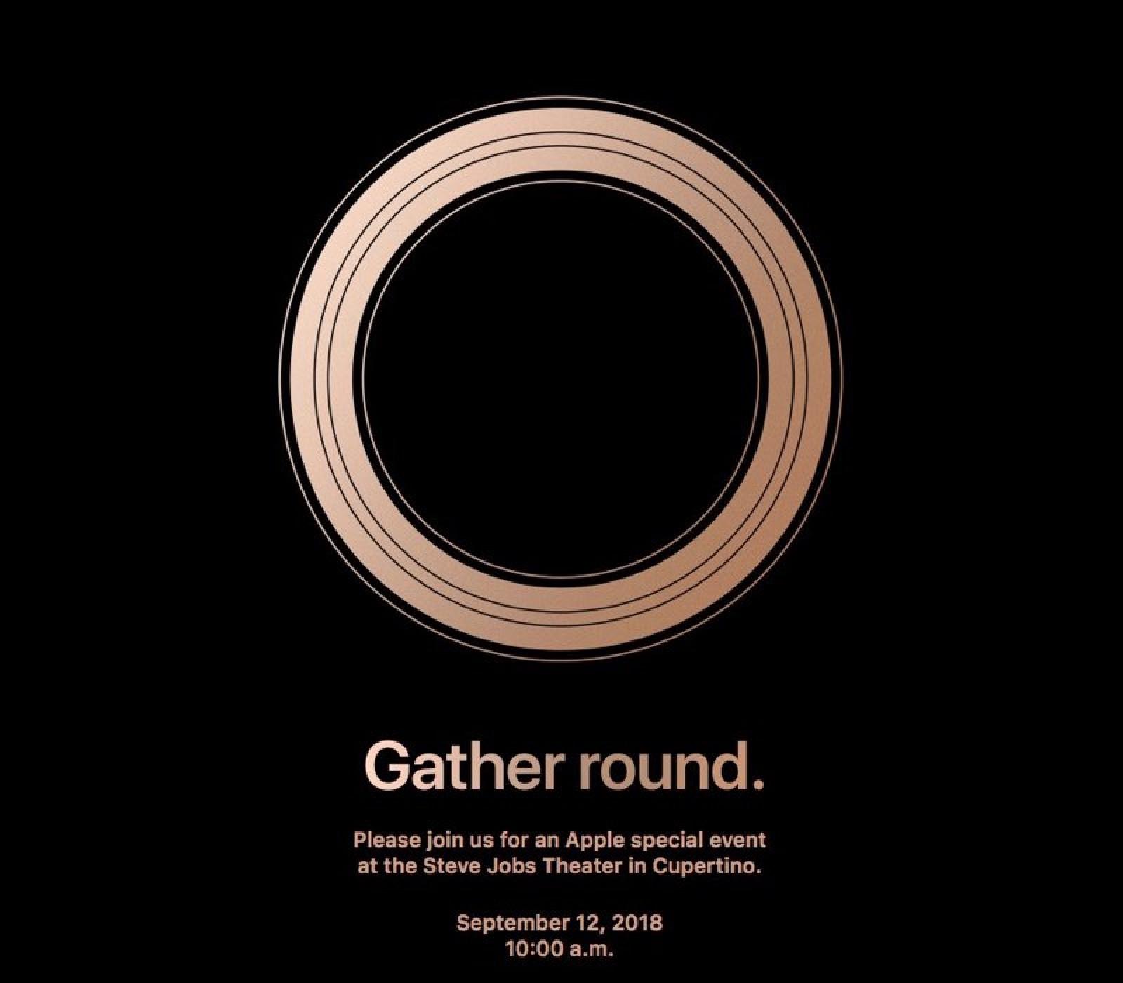 Ufficiale: i nuovi iPhone 2018 saranno presentati il 12 settembre all'Apple Park