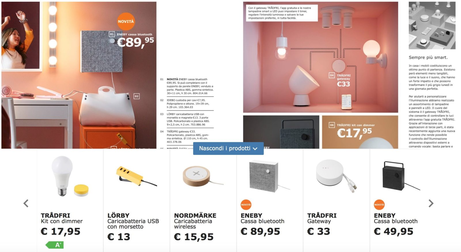 Catalogo ikea 2019 tra casa smart e speaker bluetooth - Catalogo ikea a casa ...