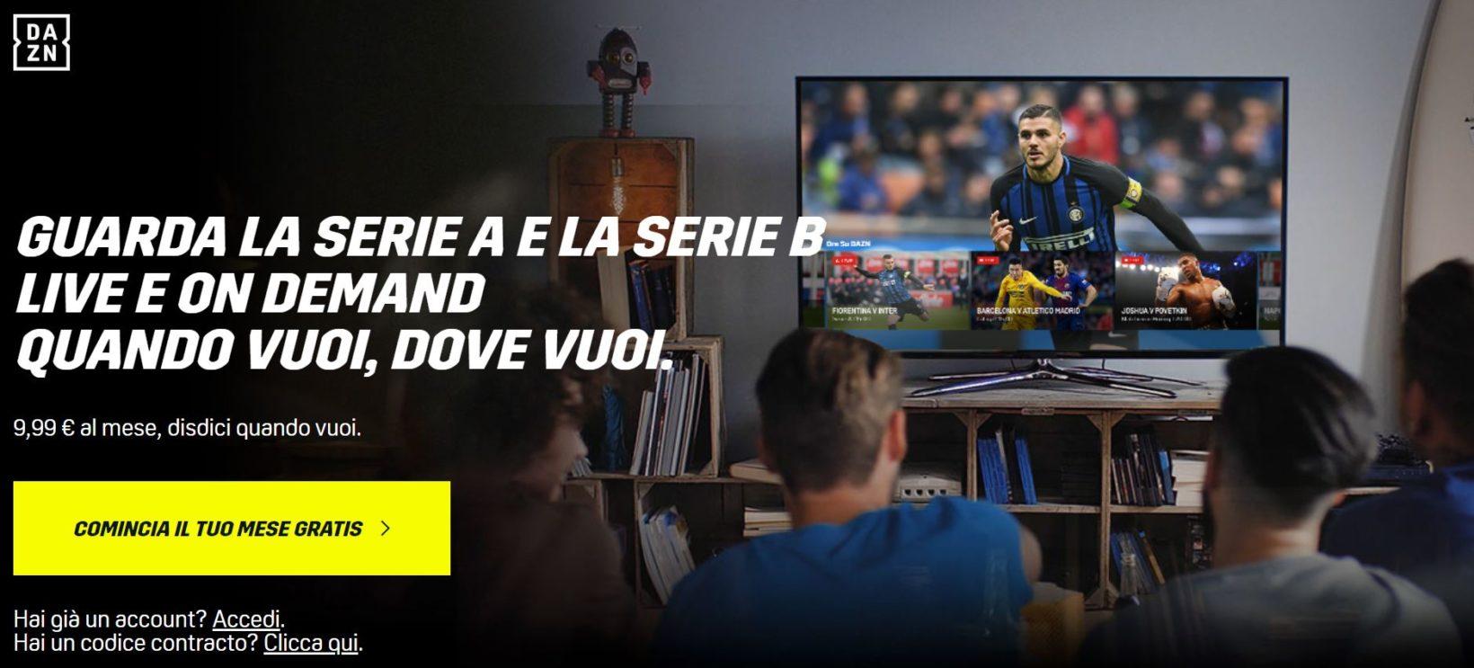 ae3a175c93 Come funziona DAZNe come vedere tutto il calcio in TV Dopo aver cliccato sul  banner per iniziare il mese gratis apparirà una ...