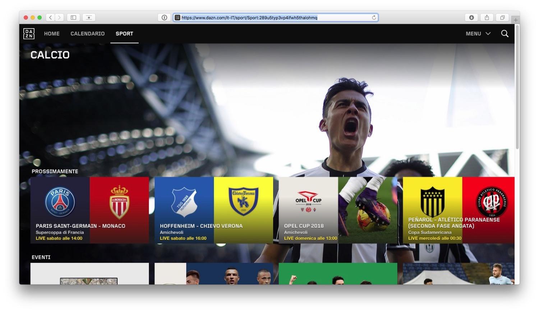5d6019d3b9 Come funziona DAZN e come vedere tutto il calcio in streaming o in ...