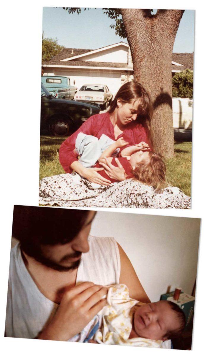 Vecchie foto di Jobs, figlia e madre della figlia