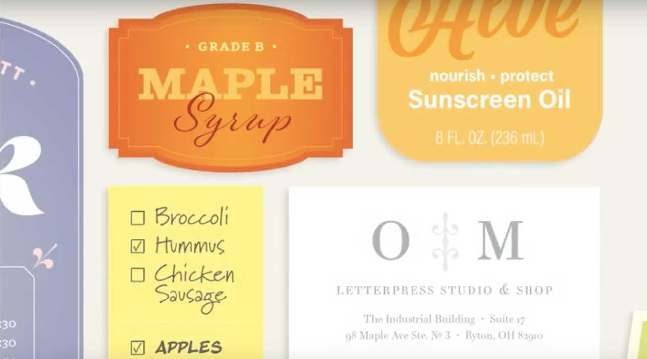 Esempio font
