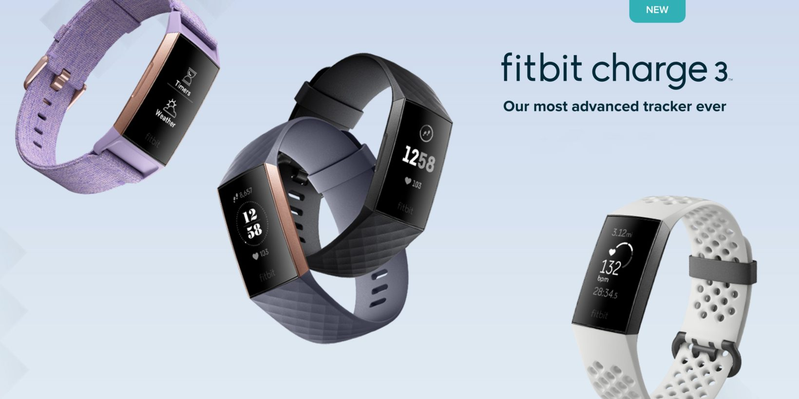Fitbit presenta Charge 3, nuovo display e durata batteria di 7 giorni