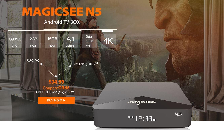 MAGICSEE N5, il box TV Android più economico di sempre con supporto 4K