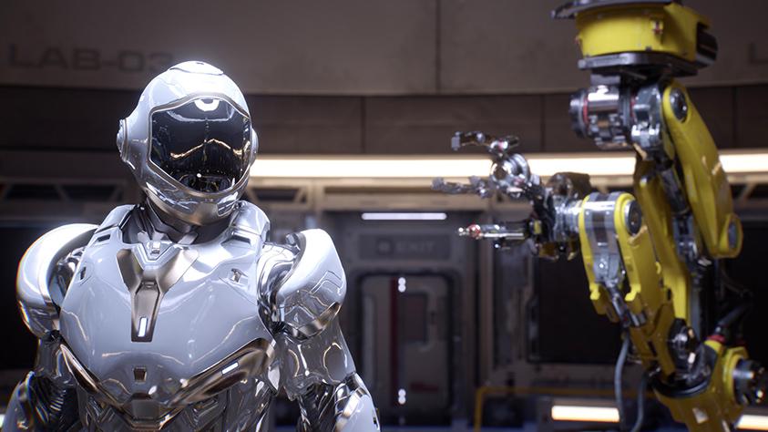 Esempio di Real-time Ray Tracing ottento con l'architettura Turing