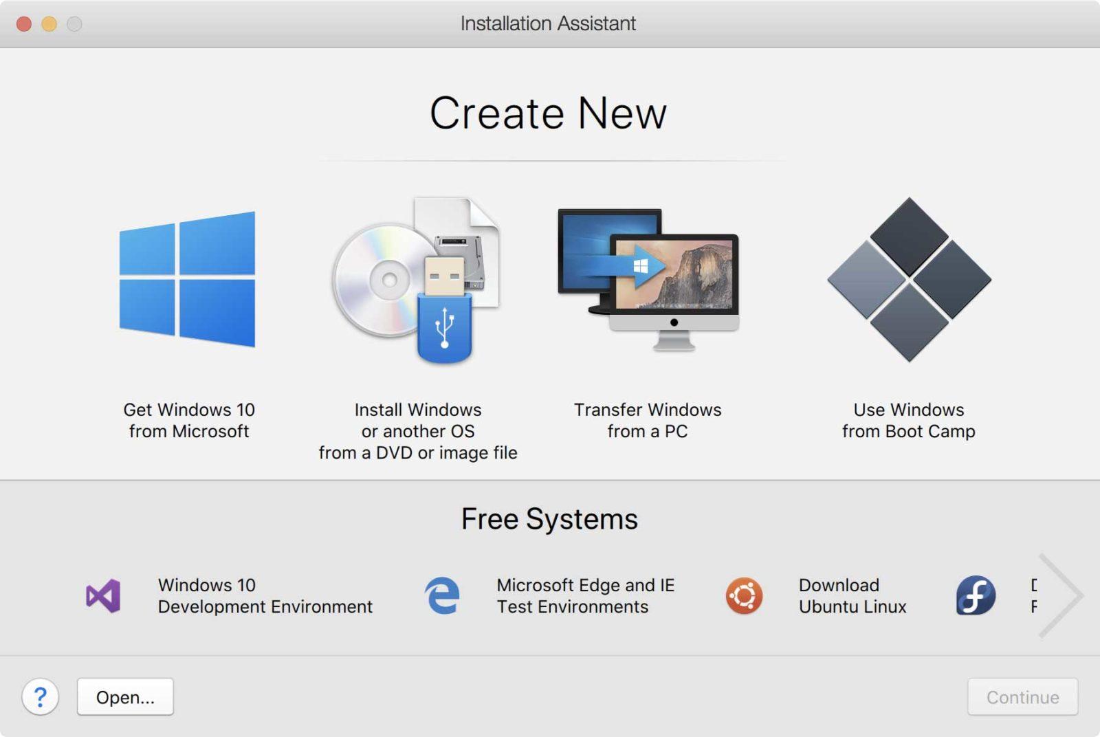 La procedura guidata di installazione che consente di creare nuove macchine virtuali