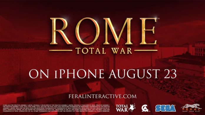 ROME: Total War è finalmente disponibile su iPhone