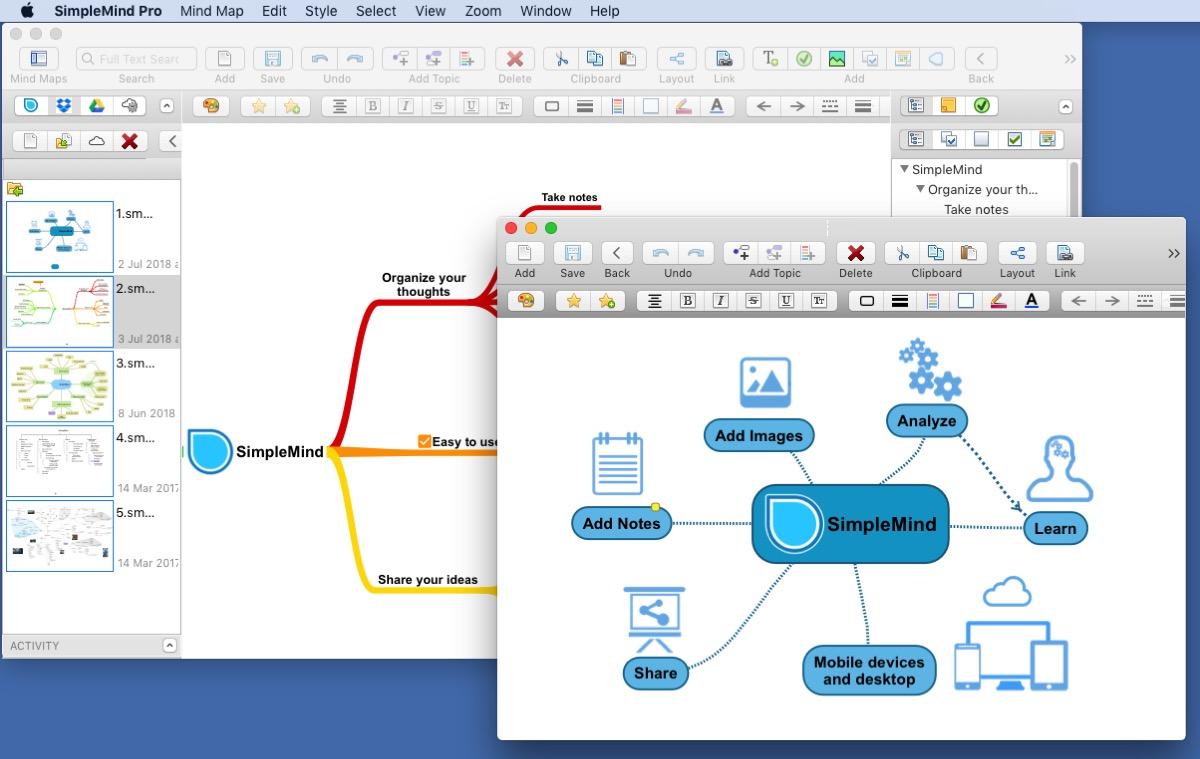 Mappe mentali e diagrammi di flusso su Mac con SimpleMind