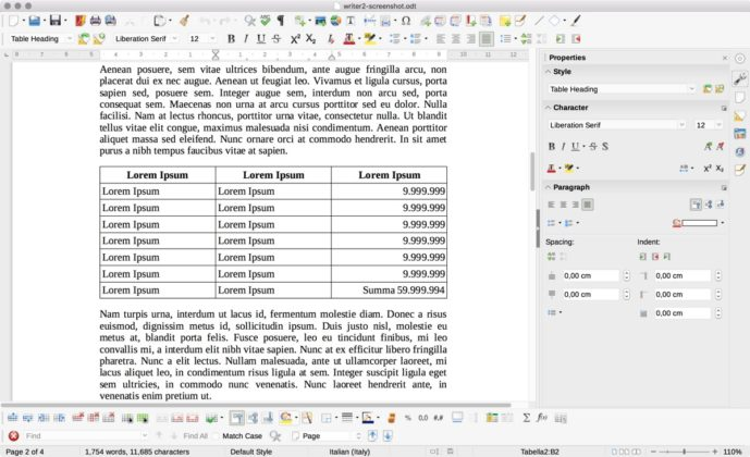 LibreOffice 6.1