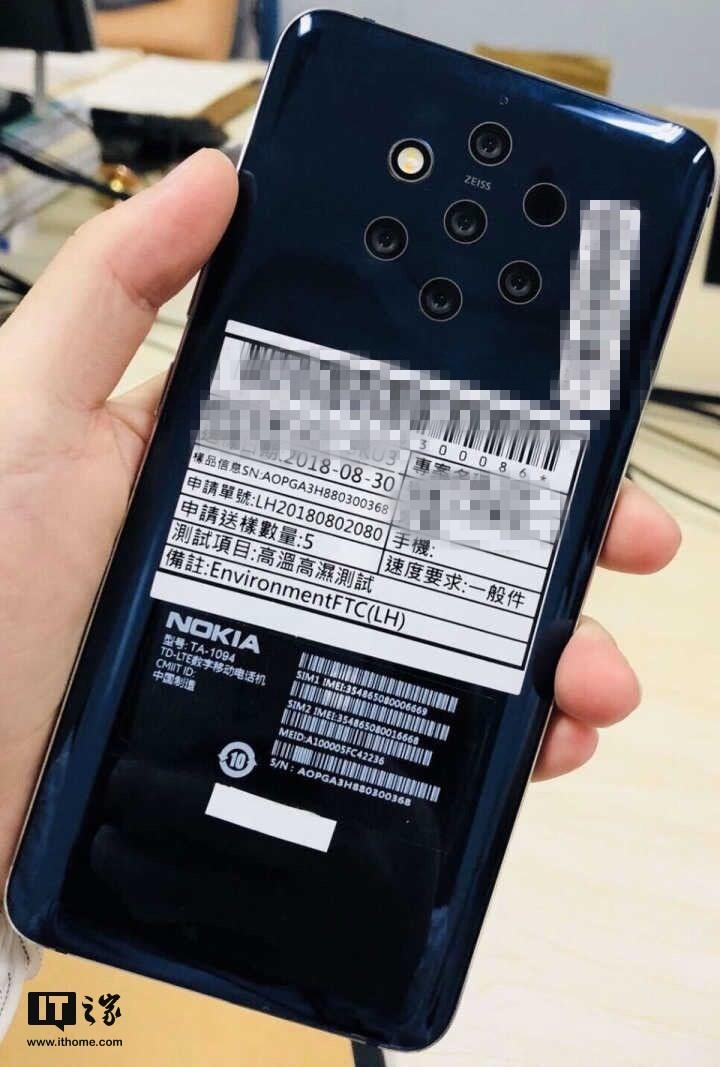 Smartphone Nokia con 5 camere, ecco la prima immagine