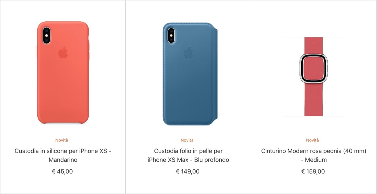Custodie iPhone XS (e Max) e cinturini Apple Watch: ecco le novità 2018