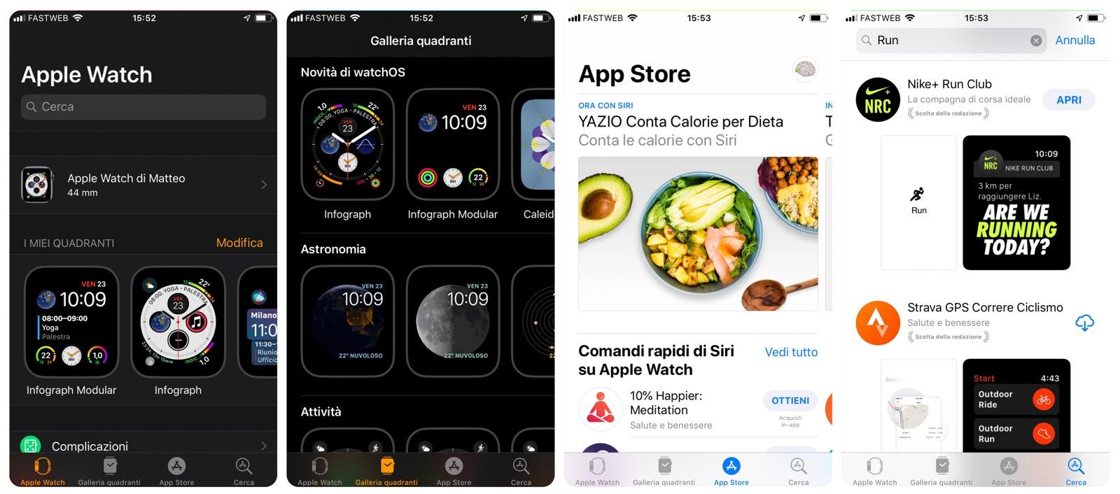 alcune app per apple watch