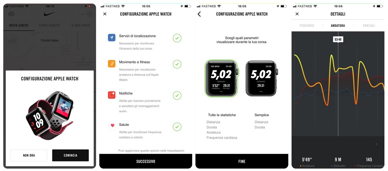 l'applicazione Nike per apple watch