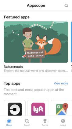 Appscope è uno store che consente di avviare app senza scaricare nulla
