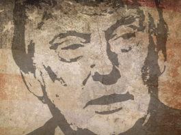 Murale con Donald Trump