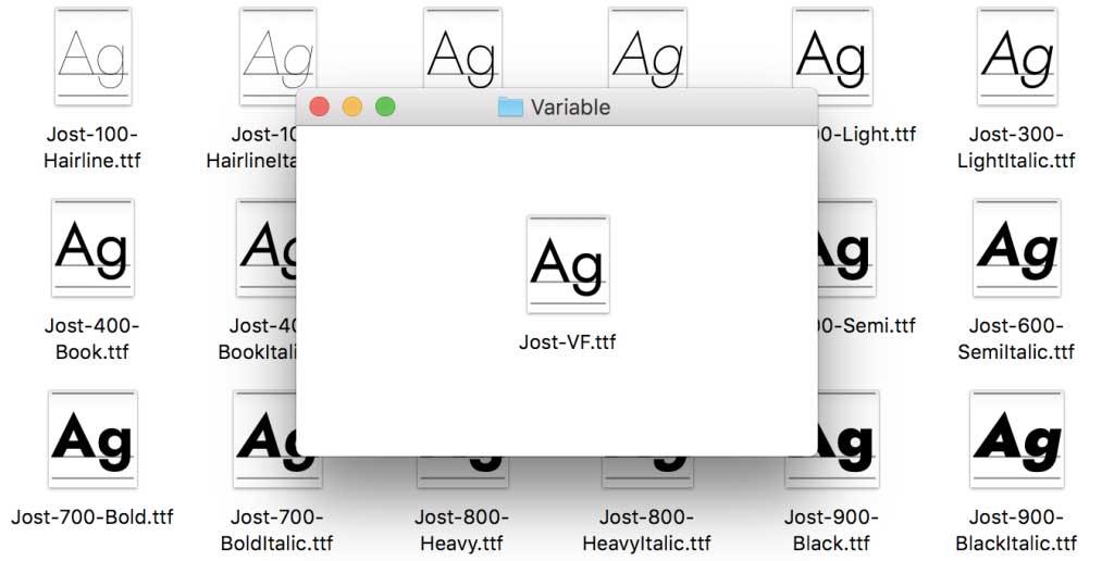 Font variabili