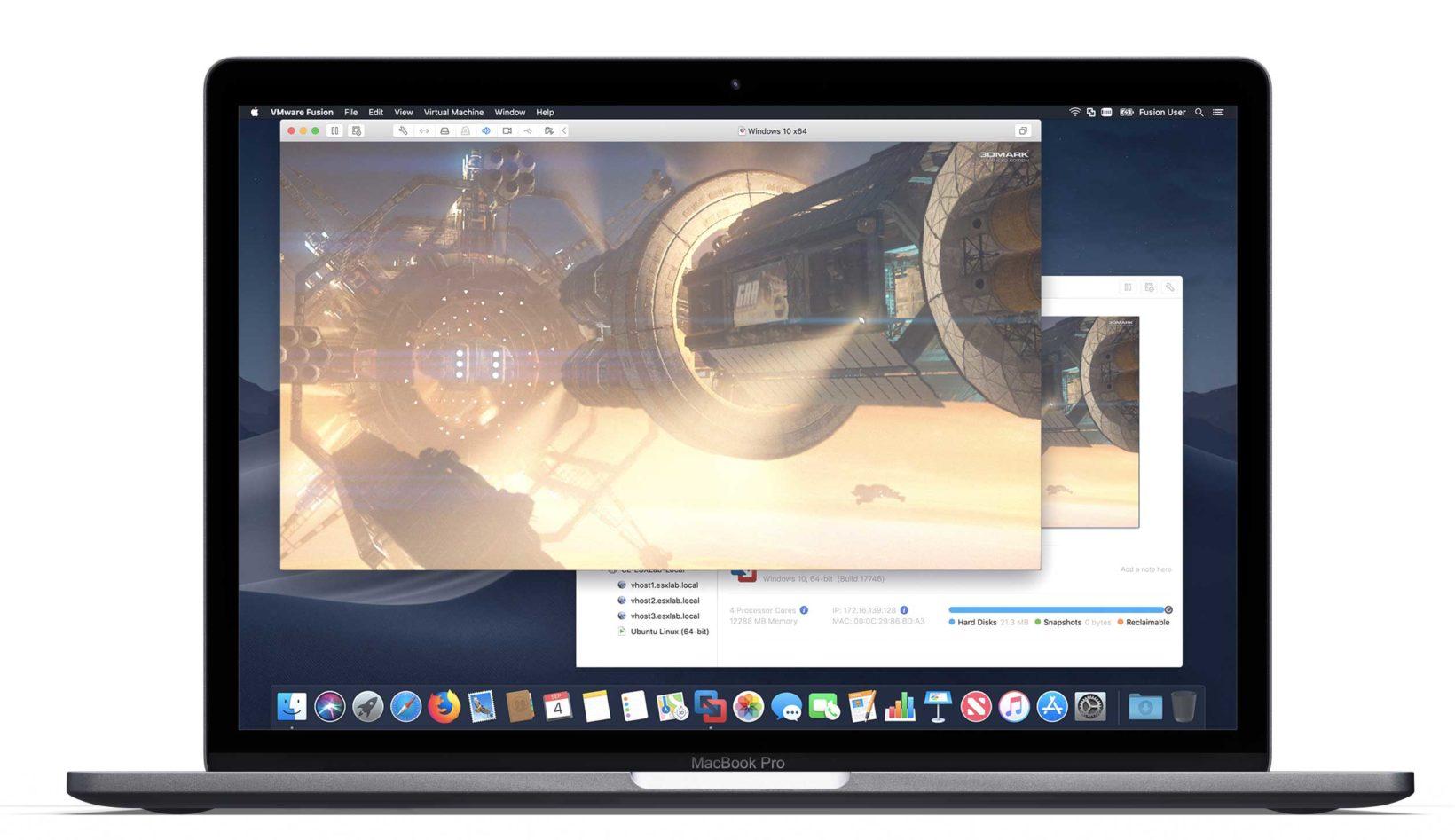 VMware Fusion 11 - foto mac con VMware Fusion 11