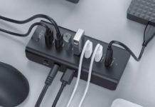 HUB con 7 porte USB 3.0 e alimentatore 30W: sconto 18,99 euro