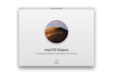 Come conservare il file con l'installer di macOS Mojave