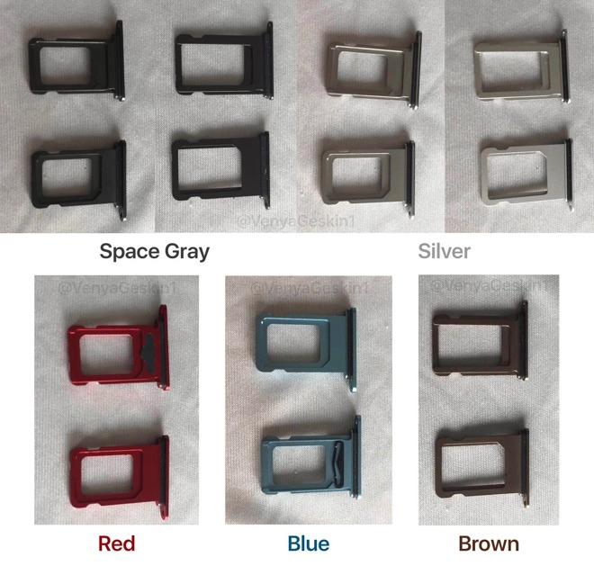iPhone XC, gli alloggiamenti SIM puntano a nuovi colori