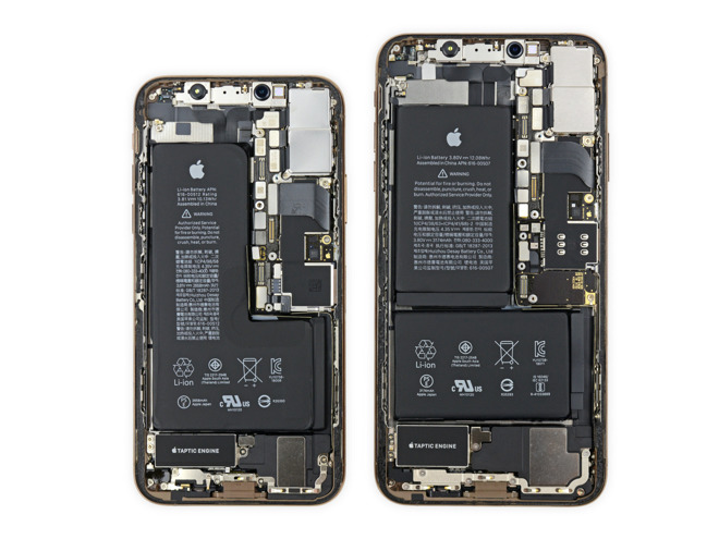 iPhone XS e Max smontati, somigliano a iPhone X ma le sorprese hardware non mancano