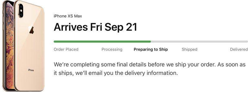 I primi iPhone XS pronti ad essere spediti in USA